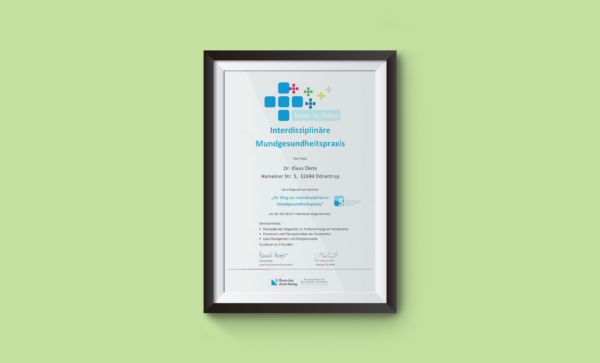 Zertifikat Mundgesundheit