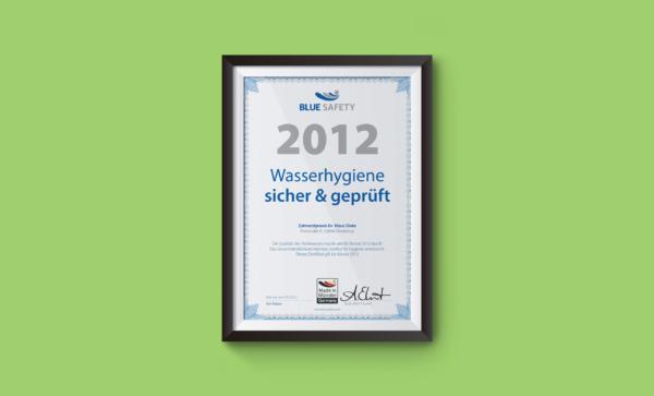 Zertifikat Wasserhygiene